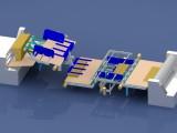 Karton forgató gép